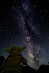 Baby Yoda and the Milky Way