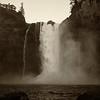 Snoqualmie Falls January High Flow Antique Effect Portrait