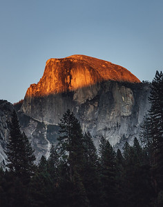 Golden Hour at Half Dome