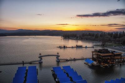 Sunset at CDA Resort 4-26-19