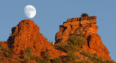 Moon Rising in the Sky in Sedona