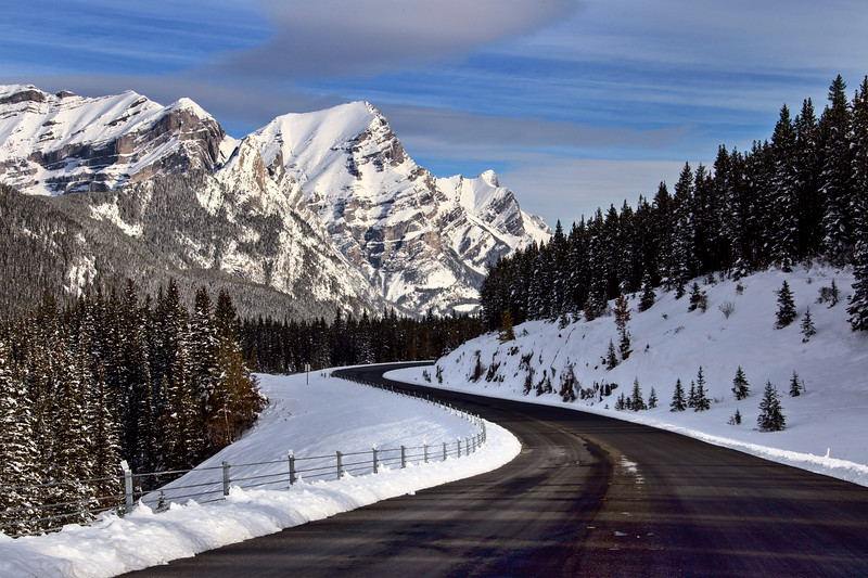 Rocky Mountains Winter Fall