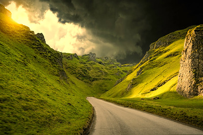 Drama in The Peaks, Castleton, Derbyshire. By David Stoddart