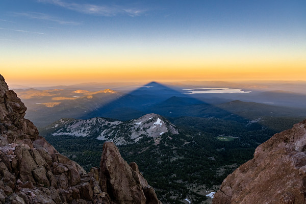 MT LASSEN SHADOW CASTER - LASSEN VOLCANIC NATIONAL PARK