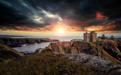 Dunnottar Castle at Sunrise by David Stoddart