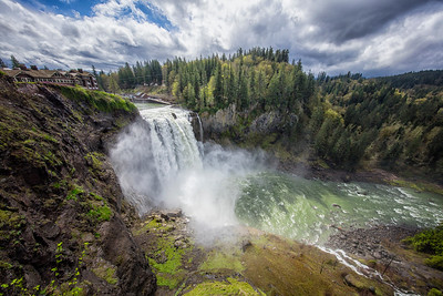 Snoqualmie Falls Between April Showers