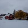 Red Barn on Snowy Day