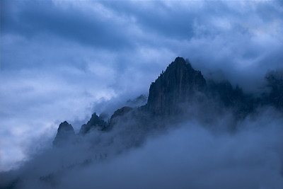 Castle Crags Shrowded in Cloud