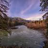 Middle Fork Overlook Upstream Winter Golden Hour