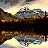 Mount Robson in autumn
