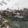 Spokane River Gorge Below Post Falls Dam