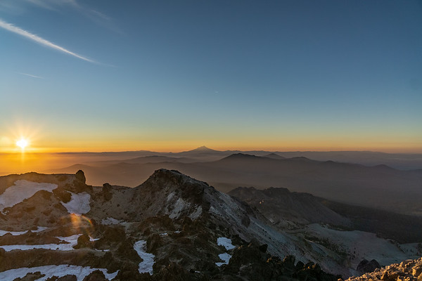 Sunset Atop Mt Lassen - Lassen Volcanic National Park