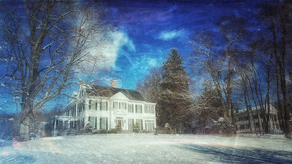 Snow Storm, December 14, 2017, Goshen, NY. I don't think this home can be photographed wrong. Shot with Samsung Mobile Galaxy S7, Edited with Snapseed