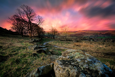 Sunset on the Peak District. By David Stoddart
