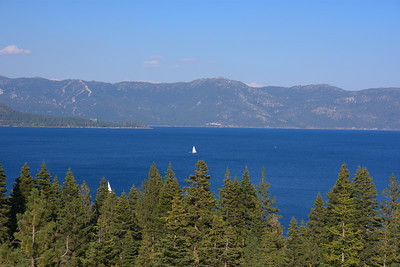 Sailboat on Lake Tahoe