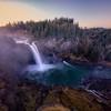Snoqualmie Falls Sunrise Winter Slow Shutter