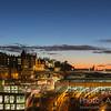 Edinburgh City Centre At Night