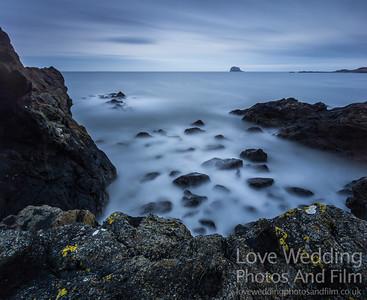 North Berwick with Bass Rock on the horizon
