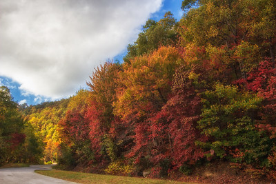 Blue Ridge Parkway Autumn Bend in Road