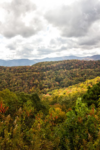 Smoky Mts Overlook Blue Ridge Parkway Fall 10-22-17 Portrait