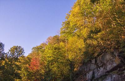 Smoky Mts fall colors near Gatlinburg 10-17-17