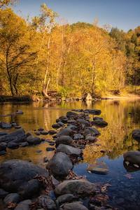 Fall portrait Little River near Townsend, TN 10-19-17