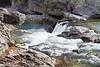Elbow Falls and Kayaker