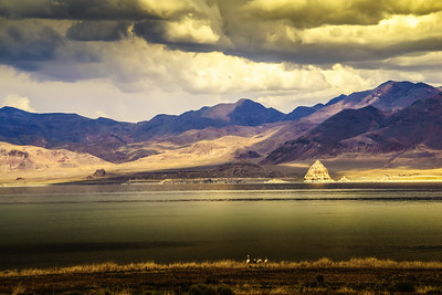 Pyramid Lake at Sundown