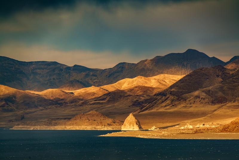 Last Light on Pyramid Lake
