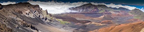 Haleakala Craters Maui Pano