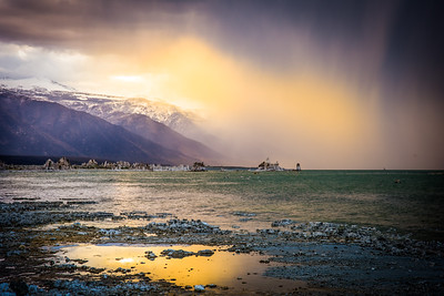 Sunset and Storm over Mono Lake