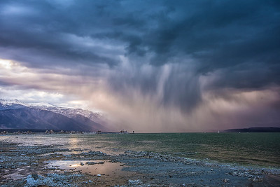 Sunset Storm over Mono Lake