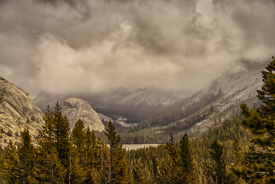 Tenaya Lake in a Storm