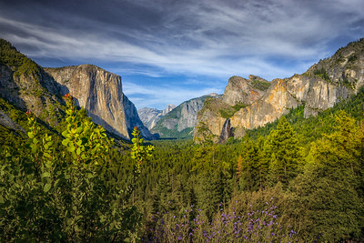 Yosemite Valley from Tunnel View, Spring