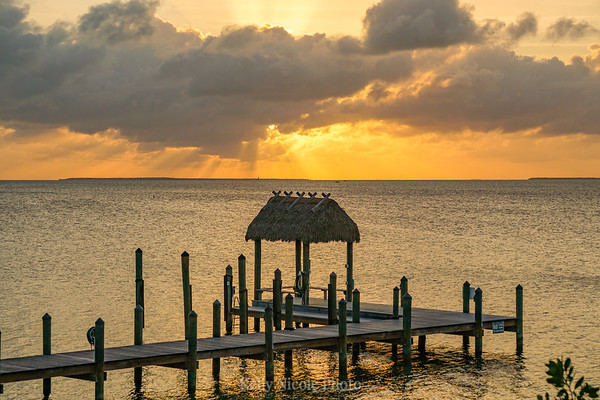 Sunset dock the Florida Keys