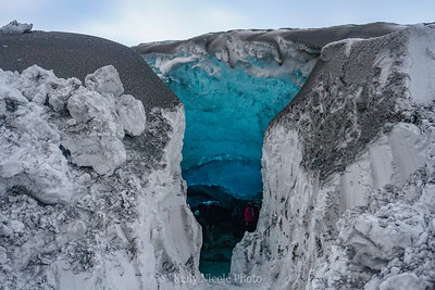 Entry to Ice Cave, Iceland