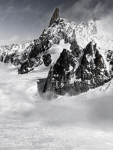 Mount Blanc dark and moody