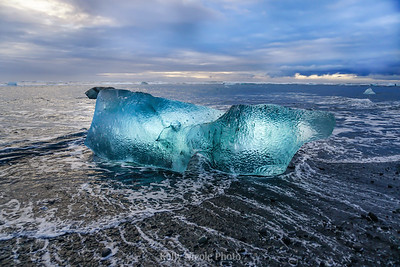 Iceberg on Beach