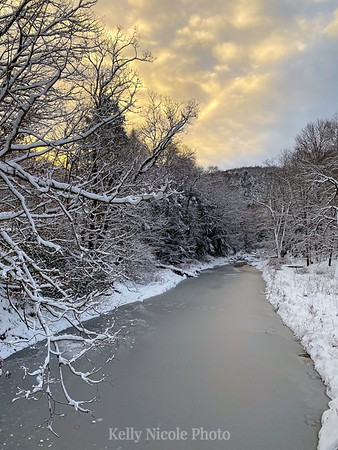 Frozen Creek at Sunrise in PA
