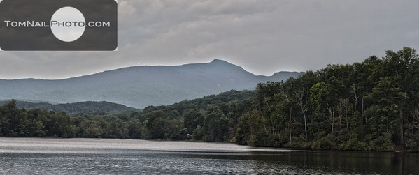 Price lake with Grandfather Mountain HDR