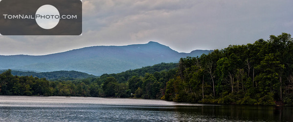 Price lake with Grandfather Mountain HDR 2