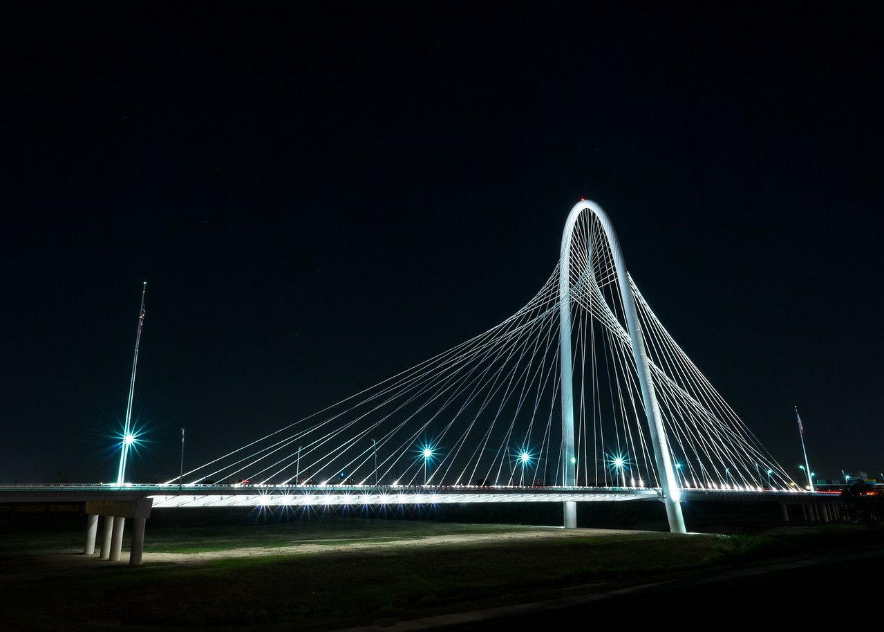 Dallas Texas: Bridge To No Where: Margaret Hunt Hill Bridge