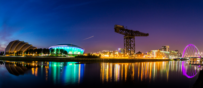 Sunset over Clydeside panoramic