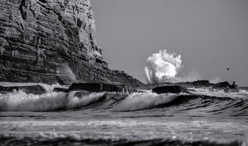 Crashing Waves at Cabrillo Beach