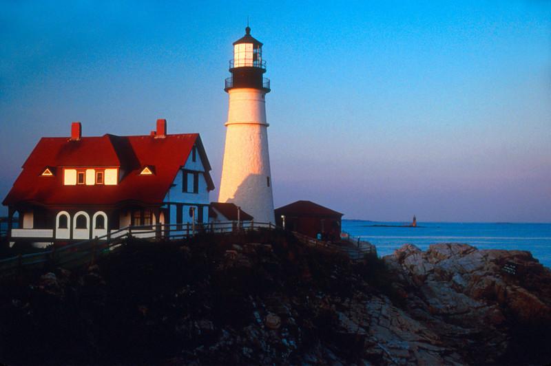 LH008<br /> Portland Head<br /> Cape Elizabeth, Maine.  The quintessential New England Light House