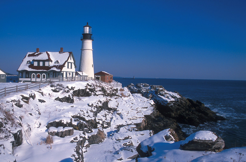 LH014<br /> Portland Head In Winter<br /> Cape Elizabeth, Maine