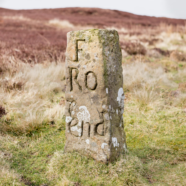 Farndale Roadmen's Stone c 1720 - Blakey Ridge North York Moors UK 2020