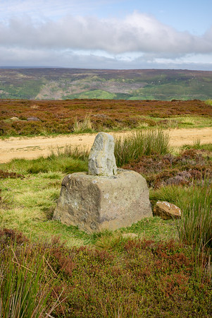 Stump Cross on Bransdale Ridge - North York Moors UK 2020