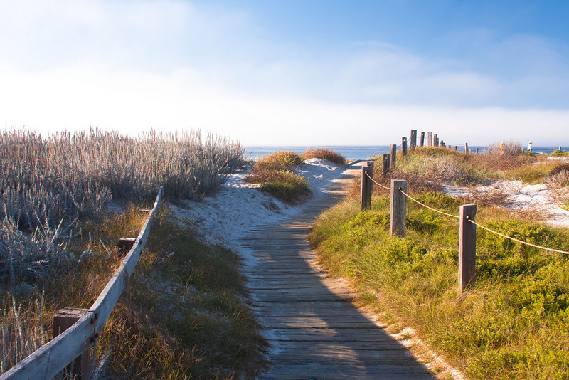 Another boardwalk on Spanish Bay. Pebble Beach 17 mile drive. California