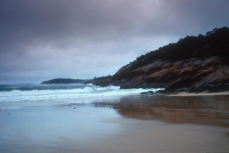 SEA012<br /> Sand Beach Reflection<br /> Acadia NP, Maine